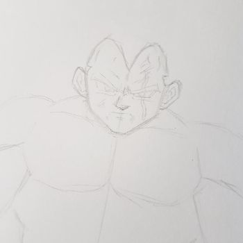 Super Vegeta WIP by ChibiBardock