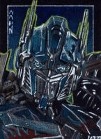 Optimus Prime - Sketch Card by J-Redd