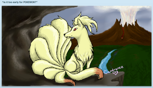 Ninetails -iScribble- by Candrence