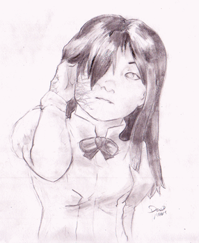Katawa Shoujo's Hanako by Sajomir