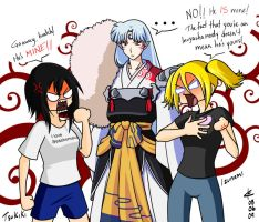 For Kuzai - Sesshomaru and OCs by Arc-Ecclesia