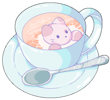 teacup kitty by owlisaurus