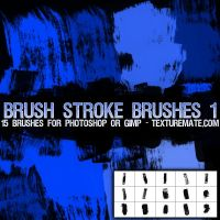 Brush Strokes 1 Brushes by AscendedArts