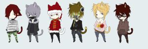 Neko Boy Adopts Set 10 by Nascimur