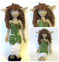 Updated Crochet Elf Doll BJD (FOR SALE) by Windowsillcharms