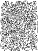 Happy Colouring Page by WelshPixie