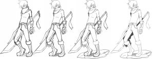 warrior sketch? by Rush--it