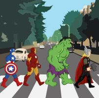 The Fab Four Avengers by rafaespinoza