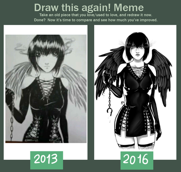 Draw this again! - Leather angel - by M2Art93