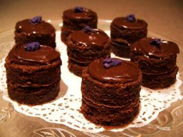 Death by little chocolate cakes by Sydney0007