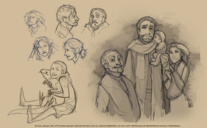 Family Sketches by GreekCeltic