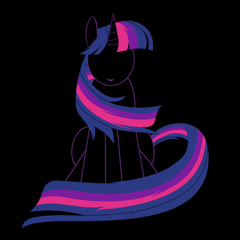 Twilight Sparkle Grinning by M-e-r-r-X