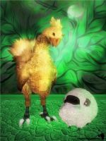 Chocobo and Sheep [XPS] by LexaKiness