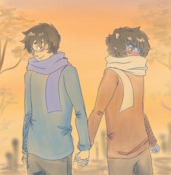 Holding hands by Viral-Z