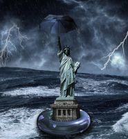Hurricane Sandy over New York by doclicio