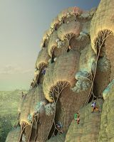 Climbing a fractal by janhein
