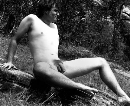 Posing nude for a friend by MattTheExhibitionist