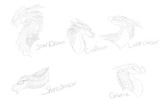 Dragon Sketches 2 by Zeniththeskywing