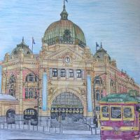 Flinder's Street Station by Canis-Simensis