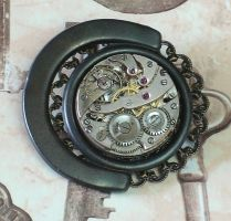 Clockwork Steampunk Brooch by cjgrand
