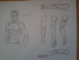 Men arms and muscles practice by Lidagan