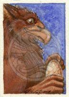 ACEO - Griffin and Egg by Yonaka-Yamako