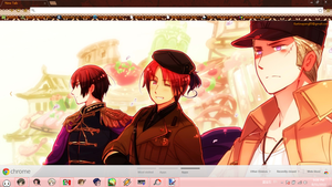 Hetalia 2P Axis Chrome Theme. by BARELA