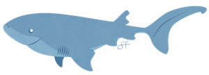 Monday's Shark - Bluntnose Sixgill Shark by shayfifearts