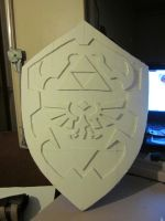 Hylian Shield ready for paint by Scarlet-Impaler