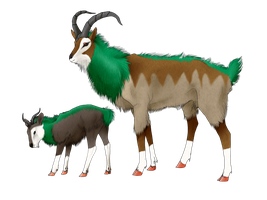 Realistic Skiddo and Gogoat by Kallonate