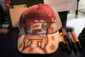 I drew on a hat by MANeatingCLOTHES
