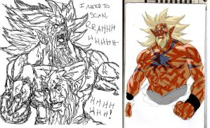 KingRyu before and after by Kandoken