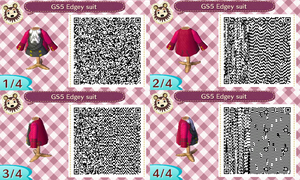 GS5 Edgeworth Suit ACNL QR Code by SuperAj3