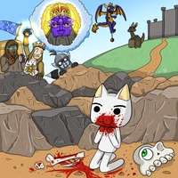 Killer cat of Caerbannog by Memoski