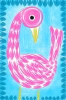 Flamingo Doodle by theNanna