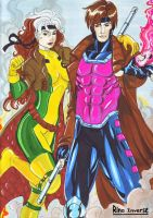 Gambit e Rogue by Lady-Valesya