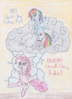 Rainbow Dash's Prank on Pinkie by DarkKnightWolf2011