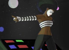 Disco Mime by ferretywrath