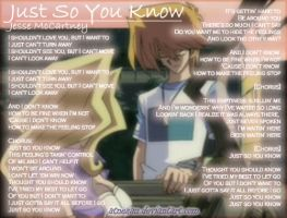 Just So You Know by atnezau