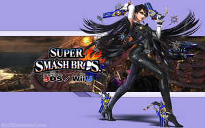 Bayonetta Wallpaper - Super Smash Bros. Wii U/3DS by AlexTHF