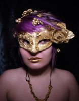 Gold mask by JappasStickyStock