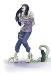 Tentacles Tease Hinata by PawFeather