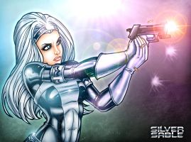 Silver Sable  Colored 2 by JamieFayX