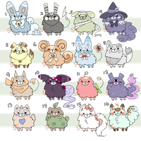 [closed] Fluffy Adopt Batch by SquiggleCakes