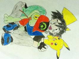 Ash and his pokemon by scarclaw17