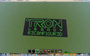 Tron: Legacy: Cover Art Minecraft Edition by MatauReviewsArts