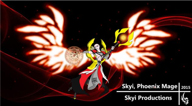 Skyi, Phoenix Mage by SkyiProductions