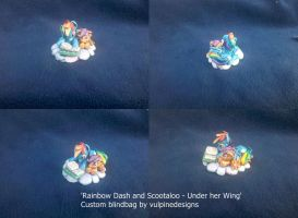 MLP FiM custom: Rainbow Dash and Scootaloo reading by vulpinedesigns