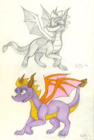 Spyro sketches by Fur-kotka