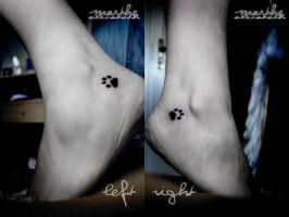 Catpaw Tattoos by DuiveltjeMaeli